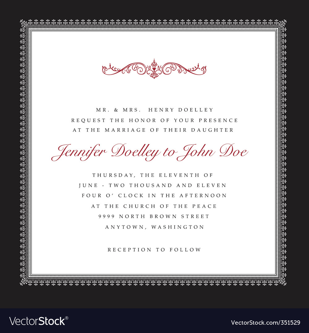 Wedding frame vector image