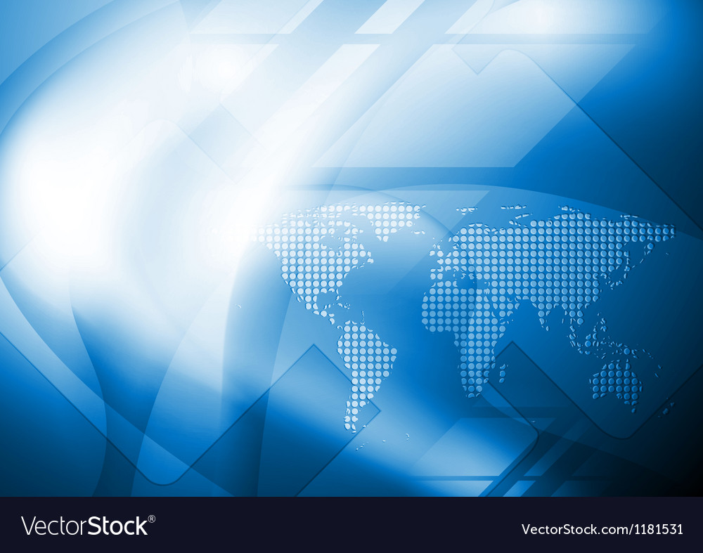 Abstract world map design vector image