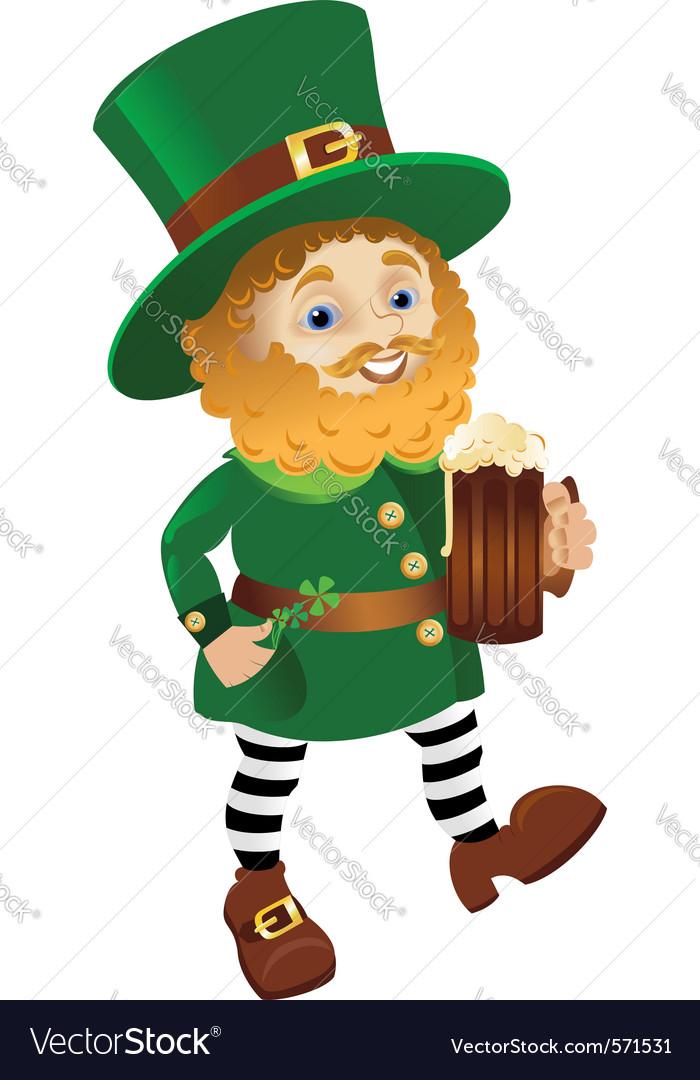 Funny leprechaun vector image