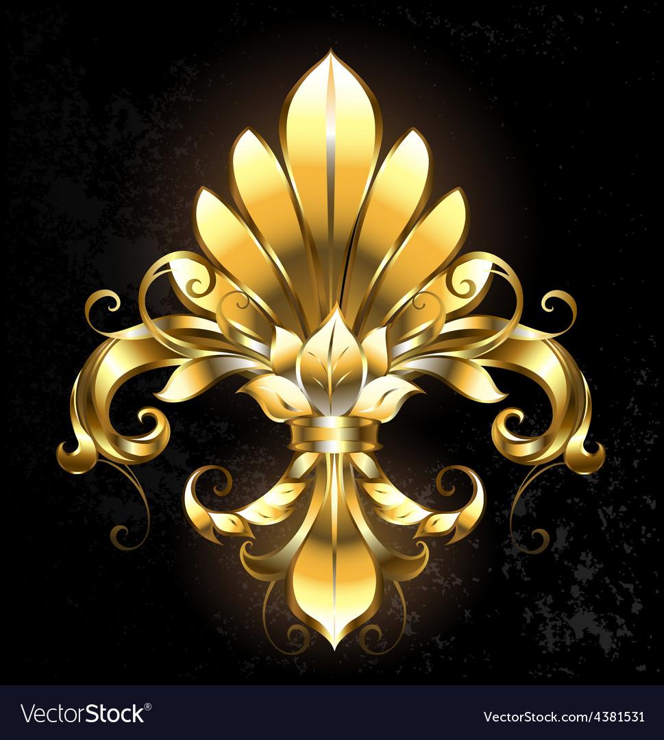Golden Fleur de Lis vector image