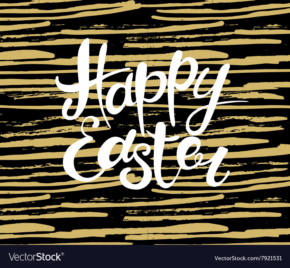 Happy Easter lettering Typographical Background vector image