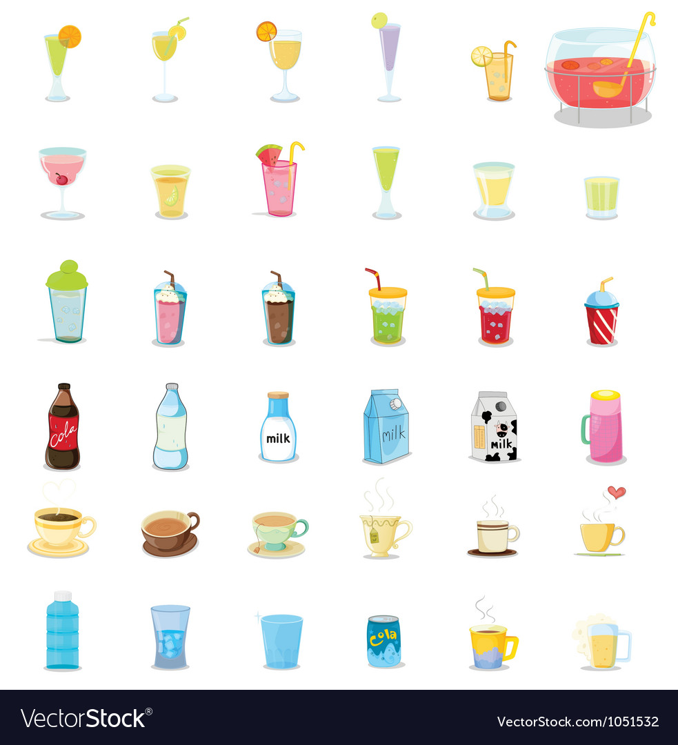 Mixed drinks vector image