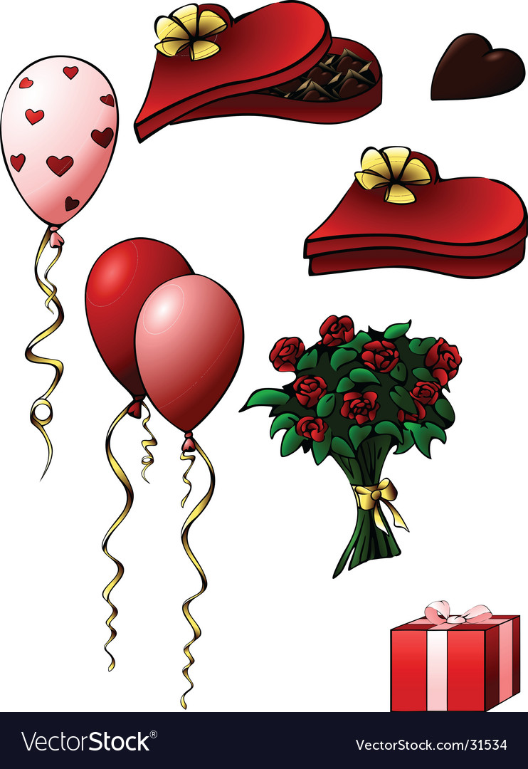 Valentine's day gifts vector image