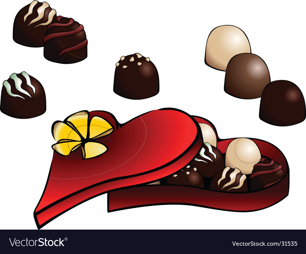 Box of chocolate vector image