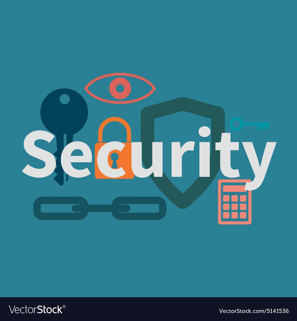 Web security concept vector image