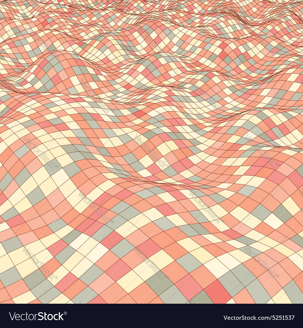 3d mosaic background vector image