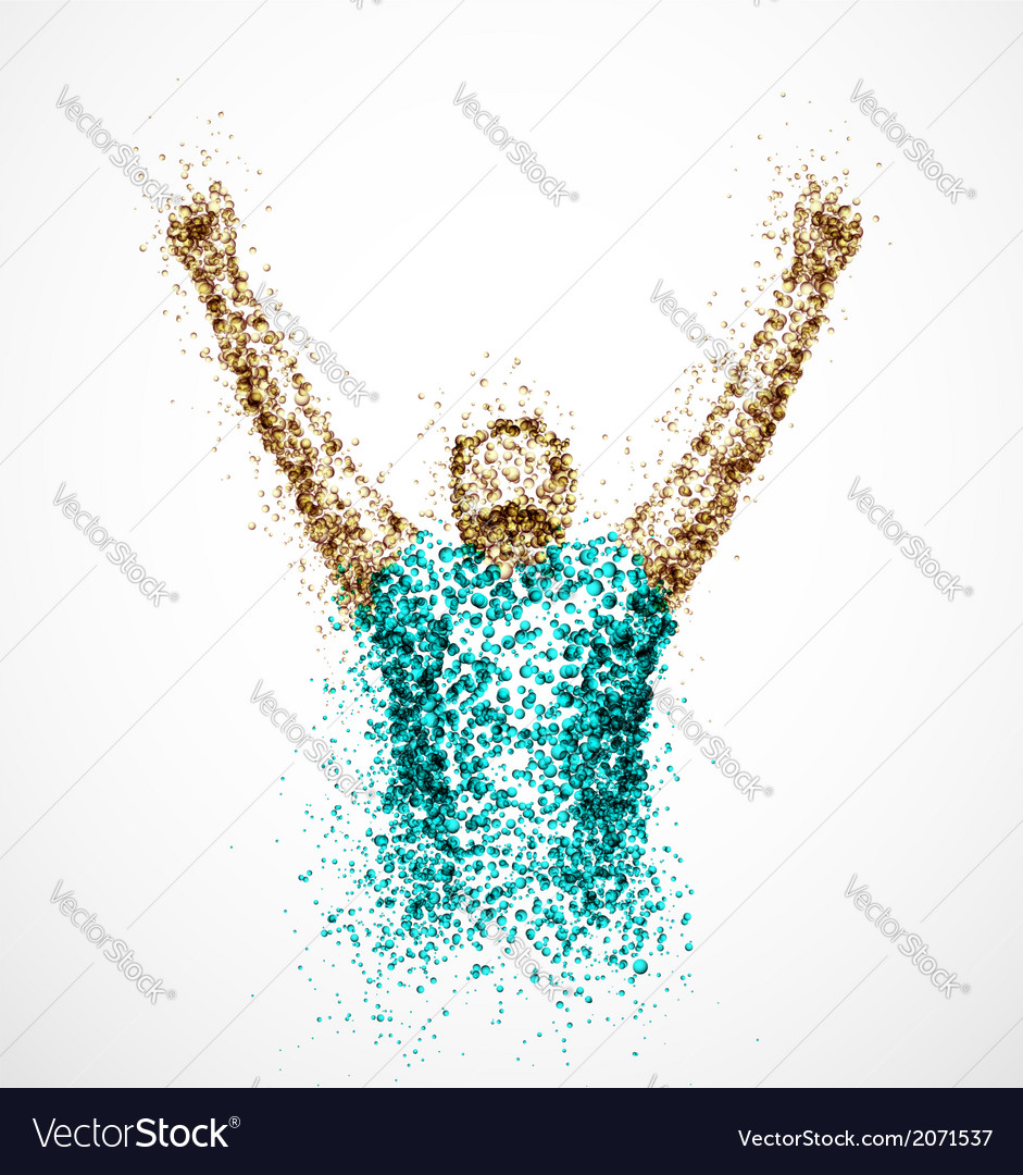 Abstract successful man vector image