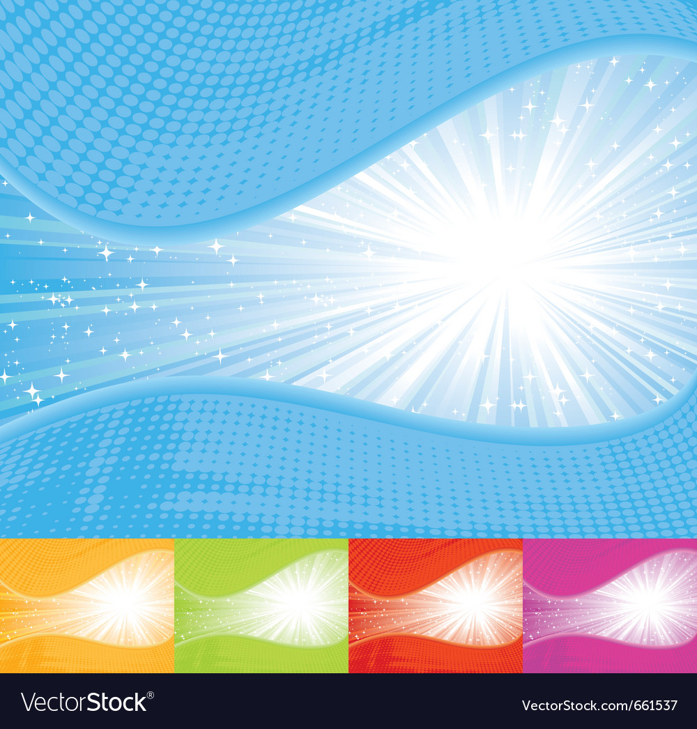 Sunbeam wavy background vector image