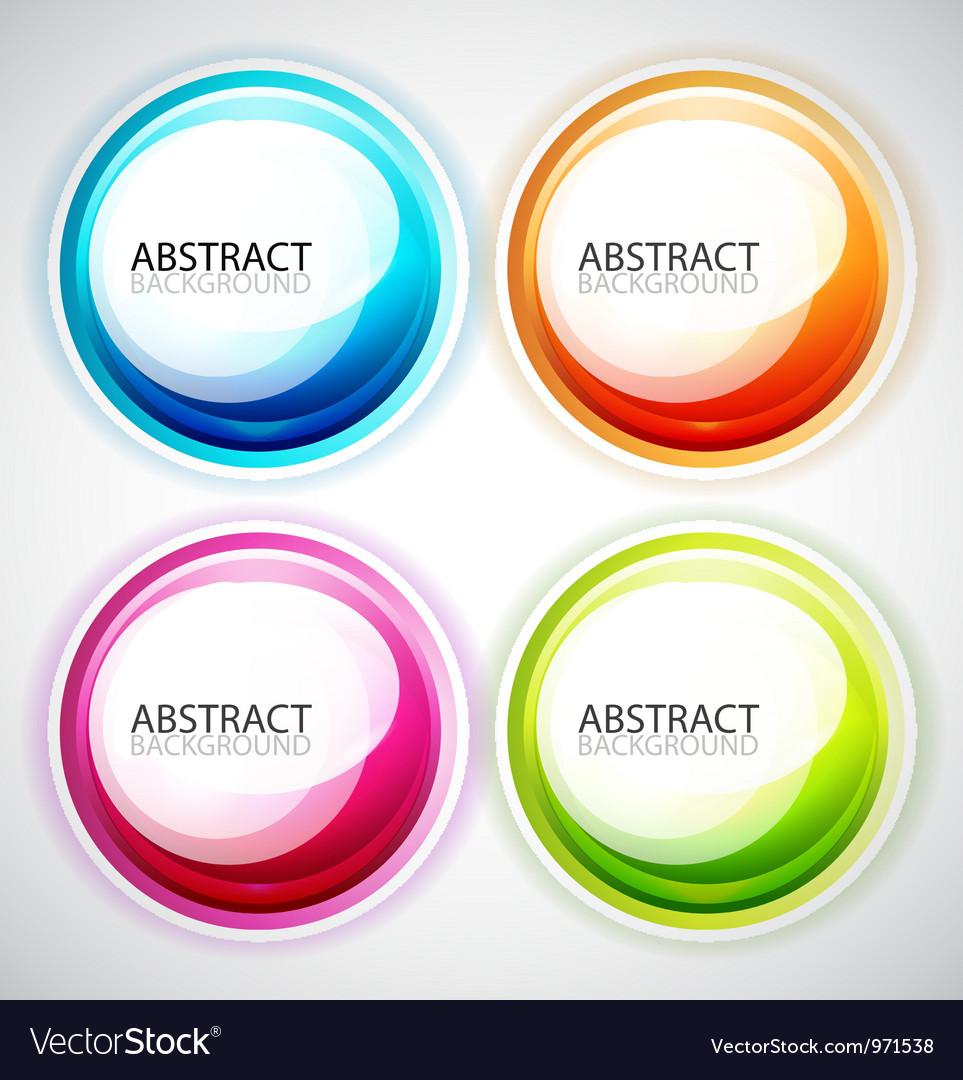 Swirl set vector image