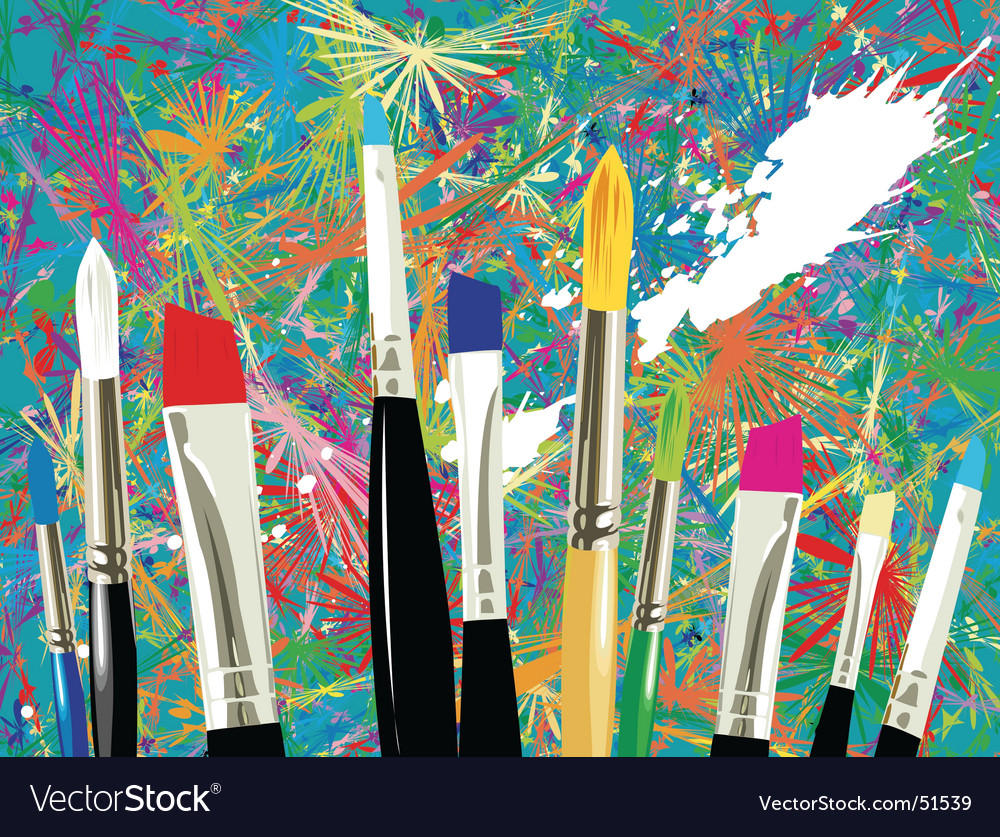 Artist brushes vector image