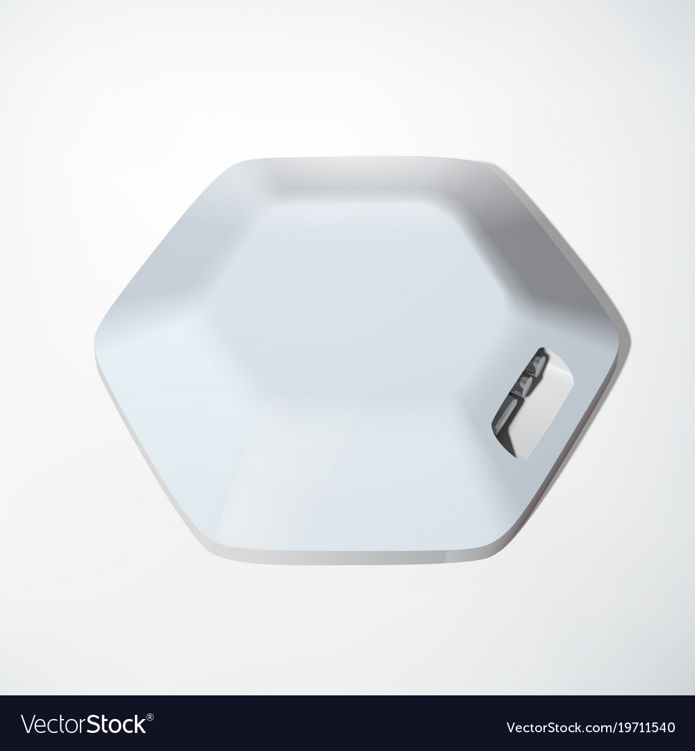 Light usb hub device concept vector image