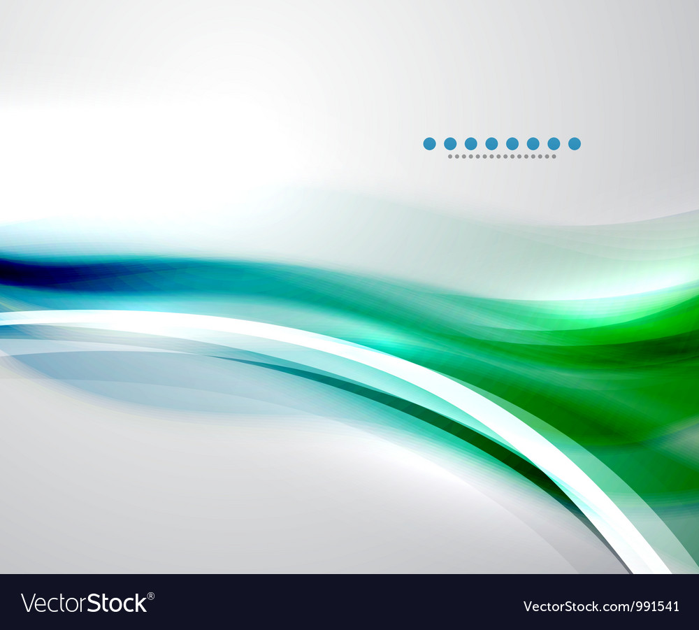 Colorful wave business template vector image