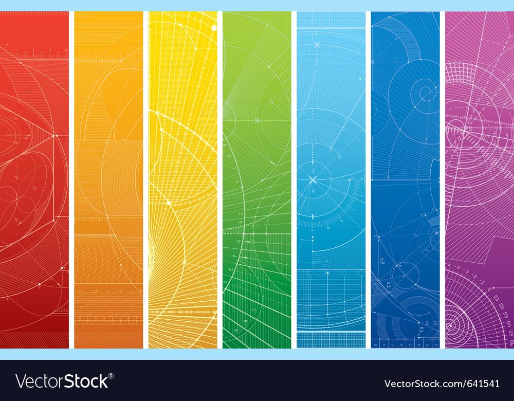 Technology draft pattern vector image