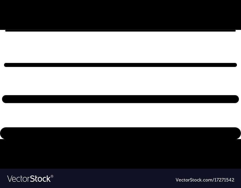 Line width icon vector image