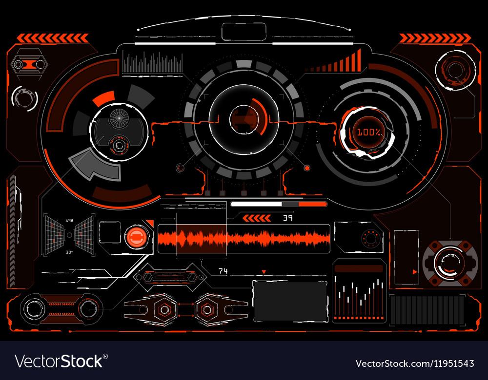 Digital elements vector image