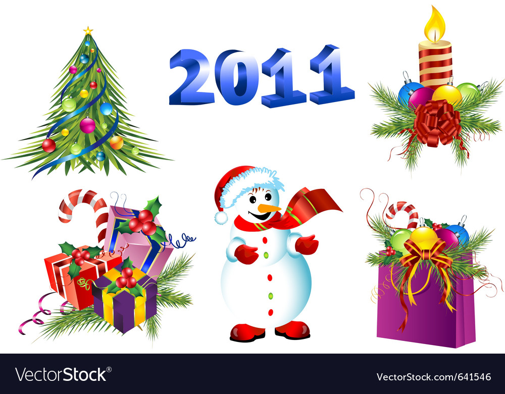 Christmas gift boxes Vector Image