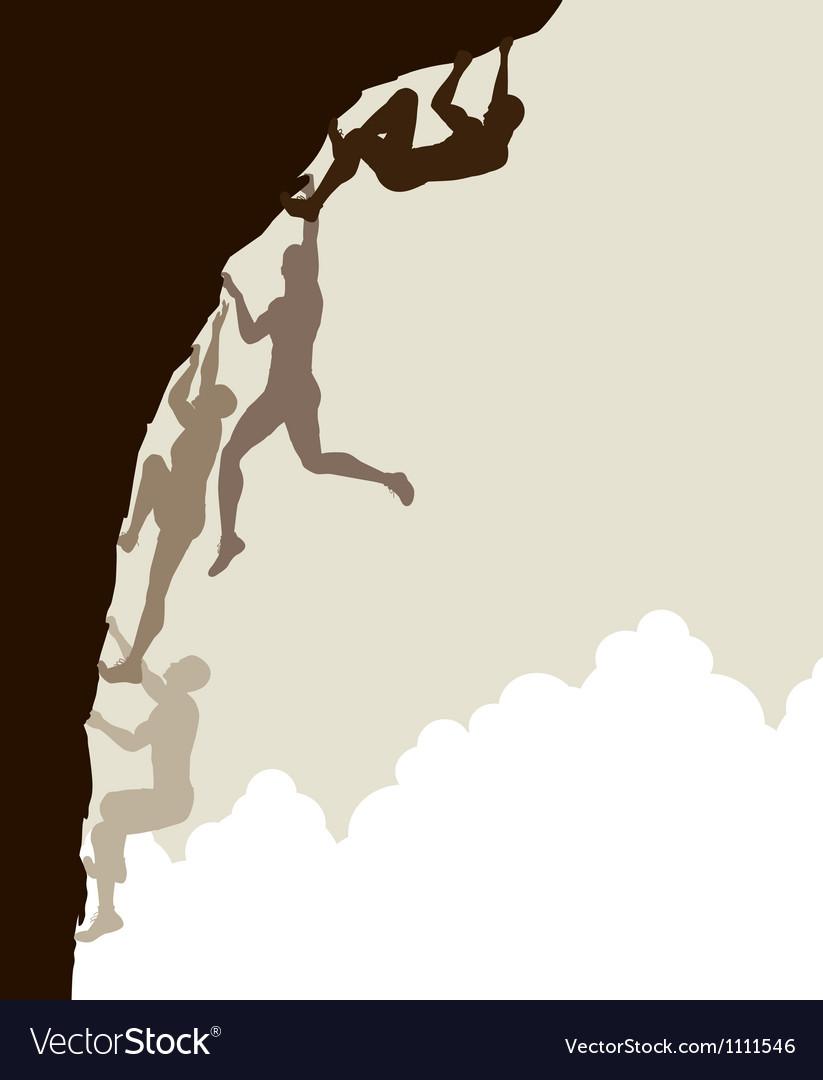 Free climb vector image