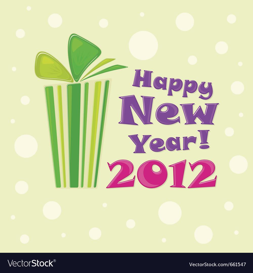 Happy new year 2012 Vector Image