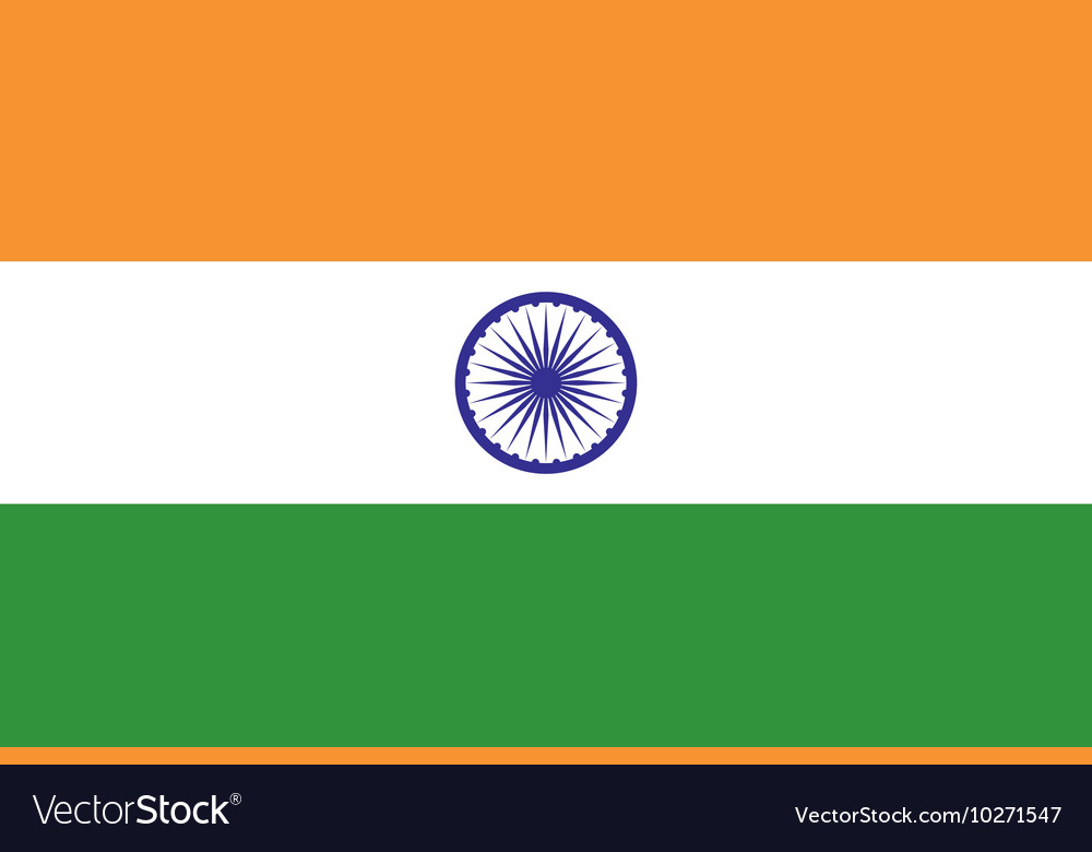 National Flag of India vector image