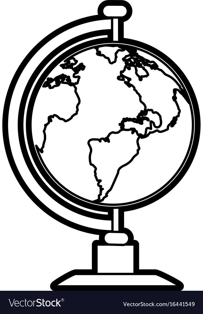 Earth globe icon image vector image