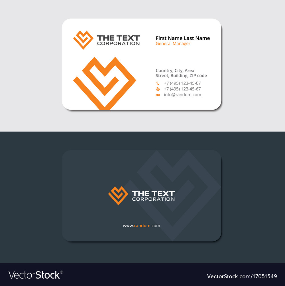 Matte business card of the charity fund royalty free vector matte business card of the charity fund vector image colourmoves Choice Image