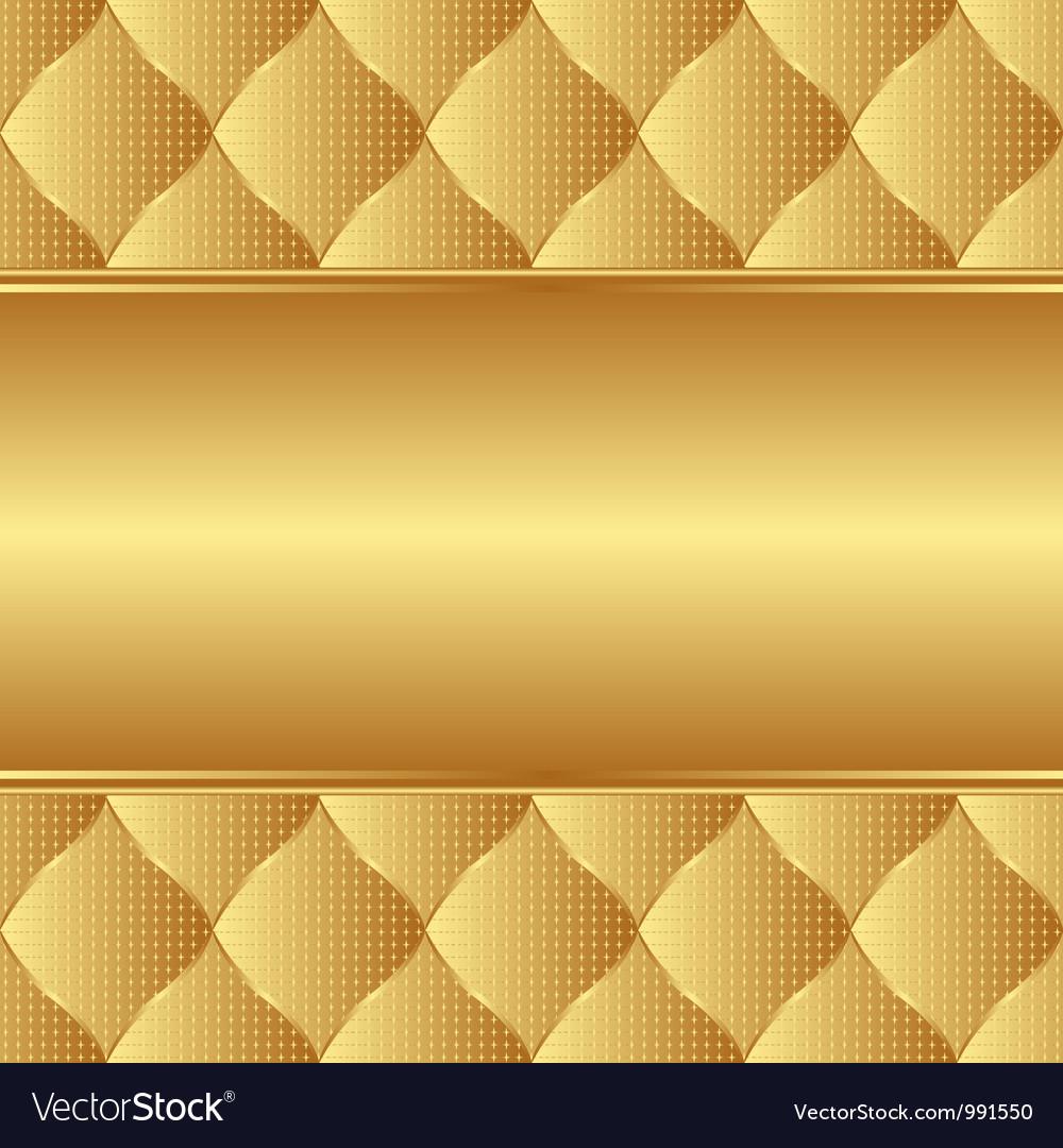Golden background vector image