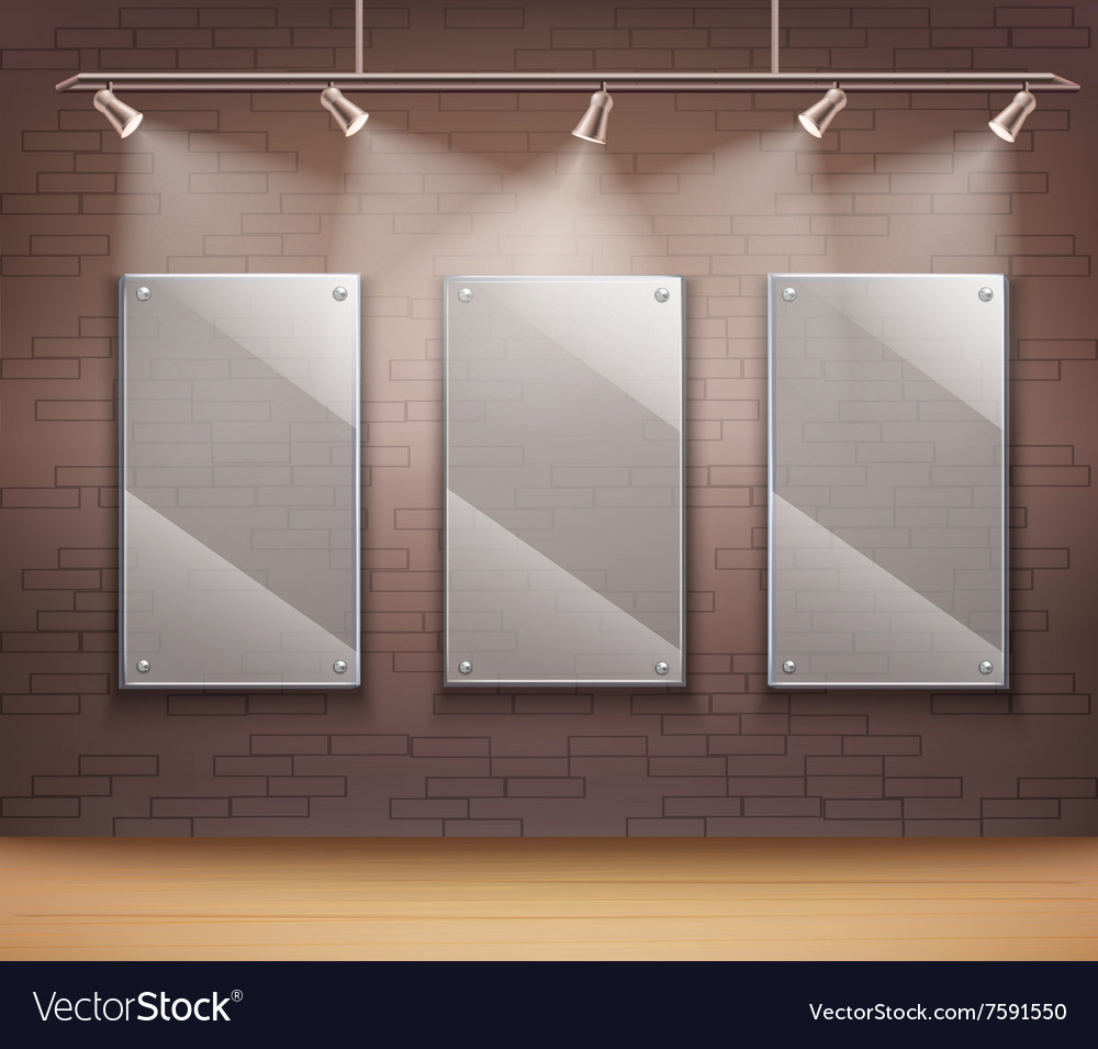Glass Gallery Frames vector image