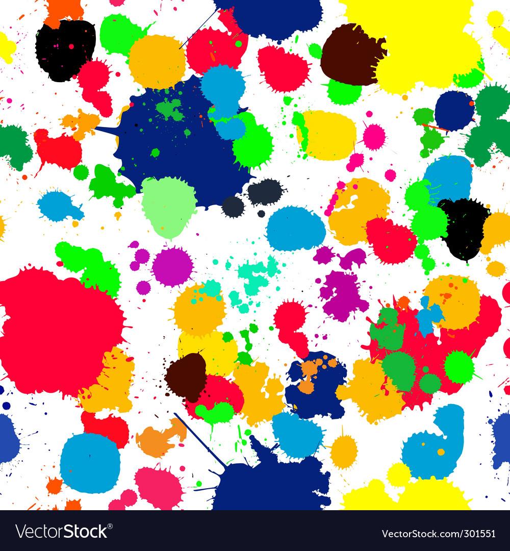 Ink splats pattern Vector Image