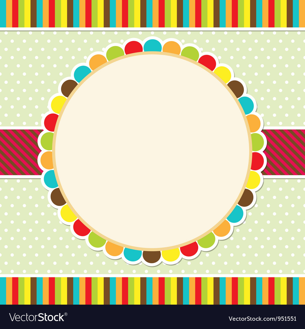 Colorful frame vector image