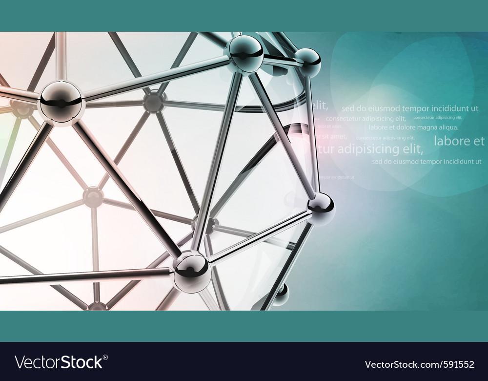 Scientific 3d model of the molecule an atom Vector Image