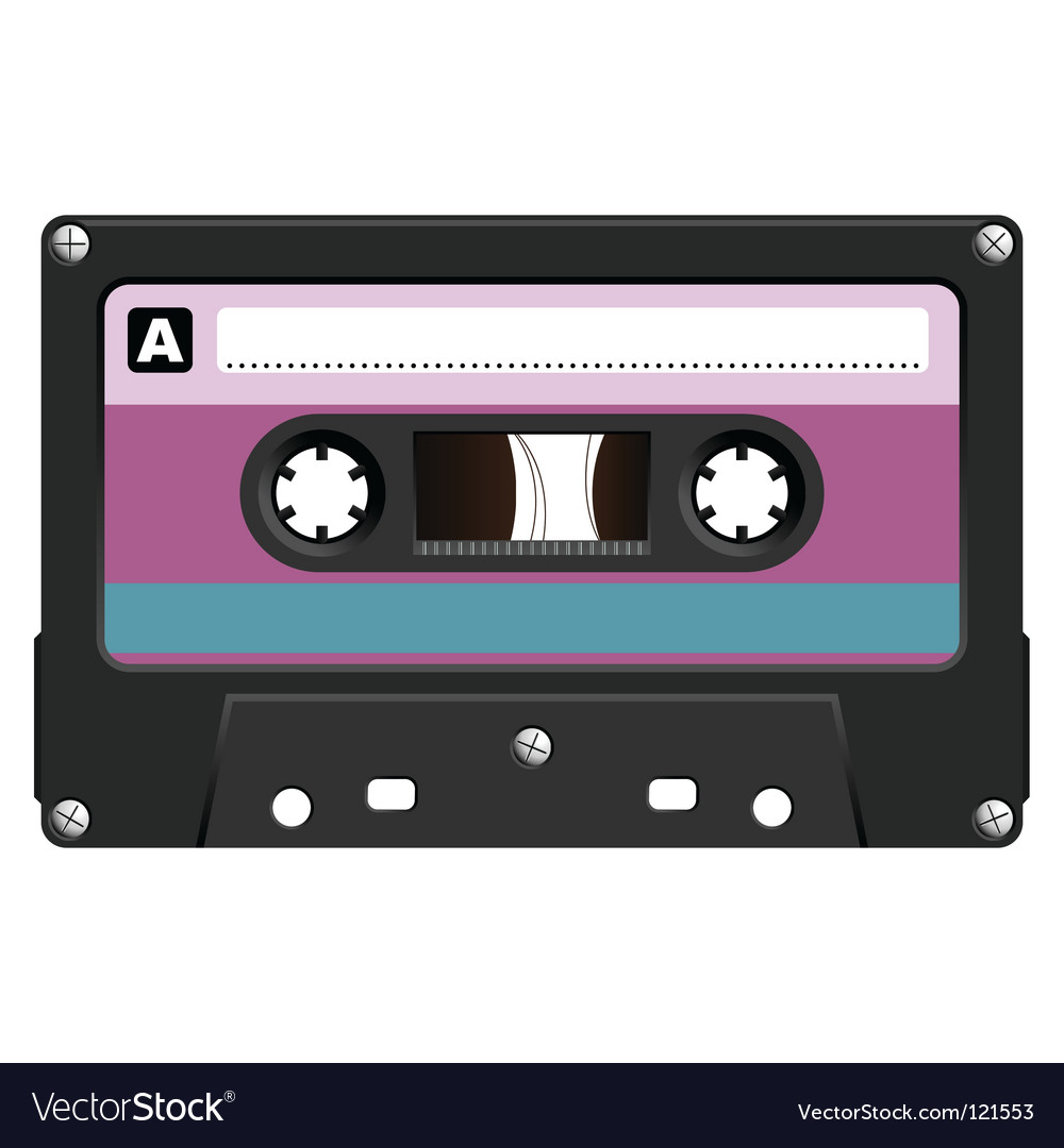 Audio cassete vector image