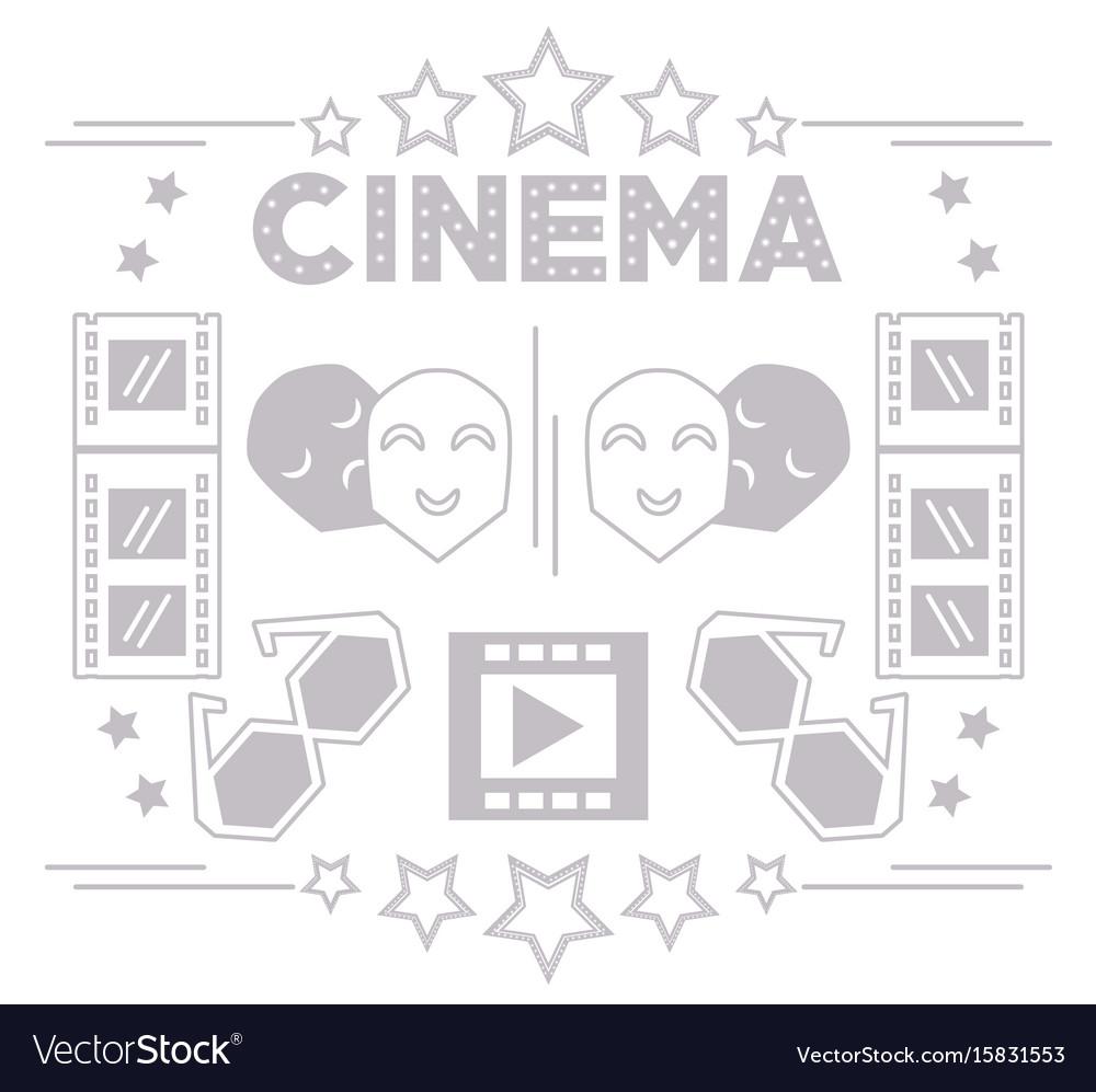 Cinema short film production tools background vector image