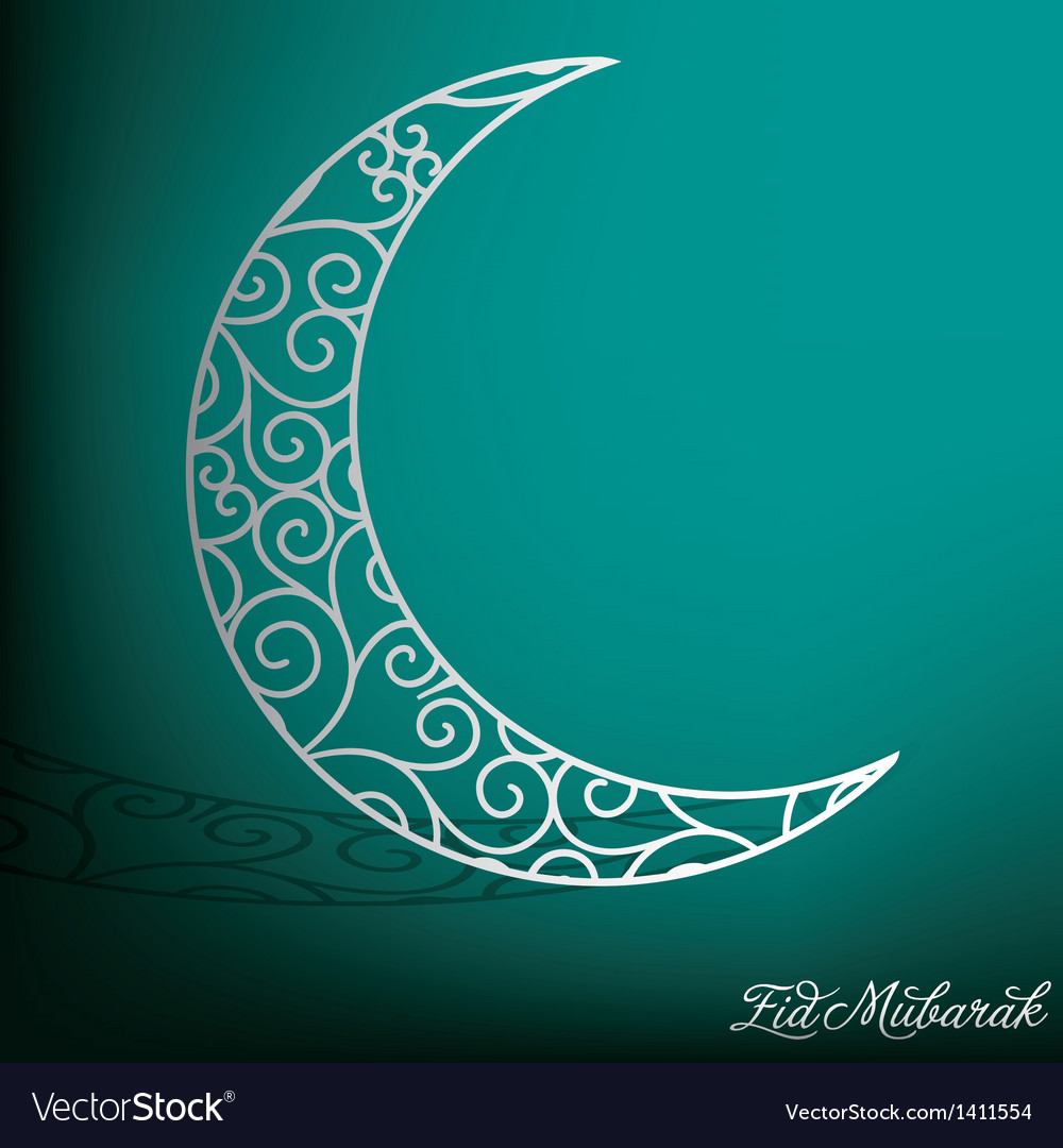 Crescent moon vector image