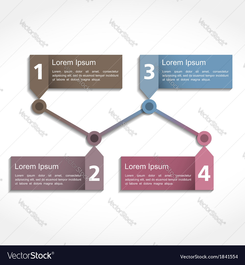 Timeline Design Template Royalty Free Vector Image - Timeline design template