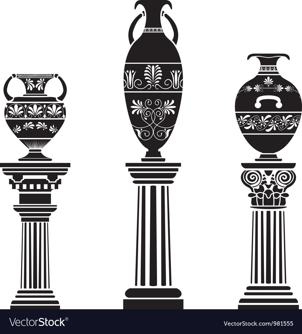 Greek vases vector image