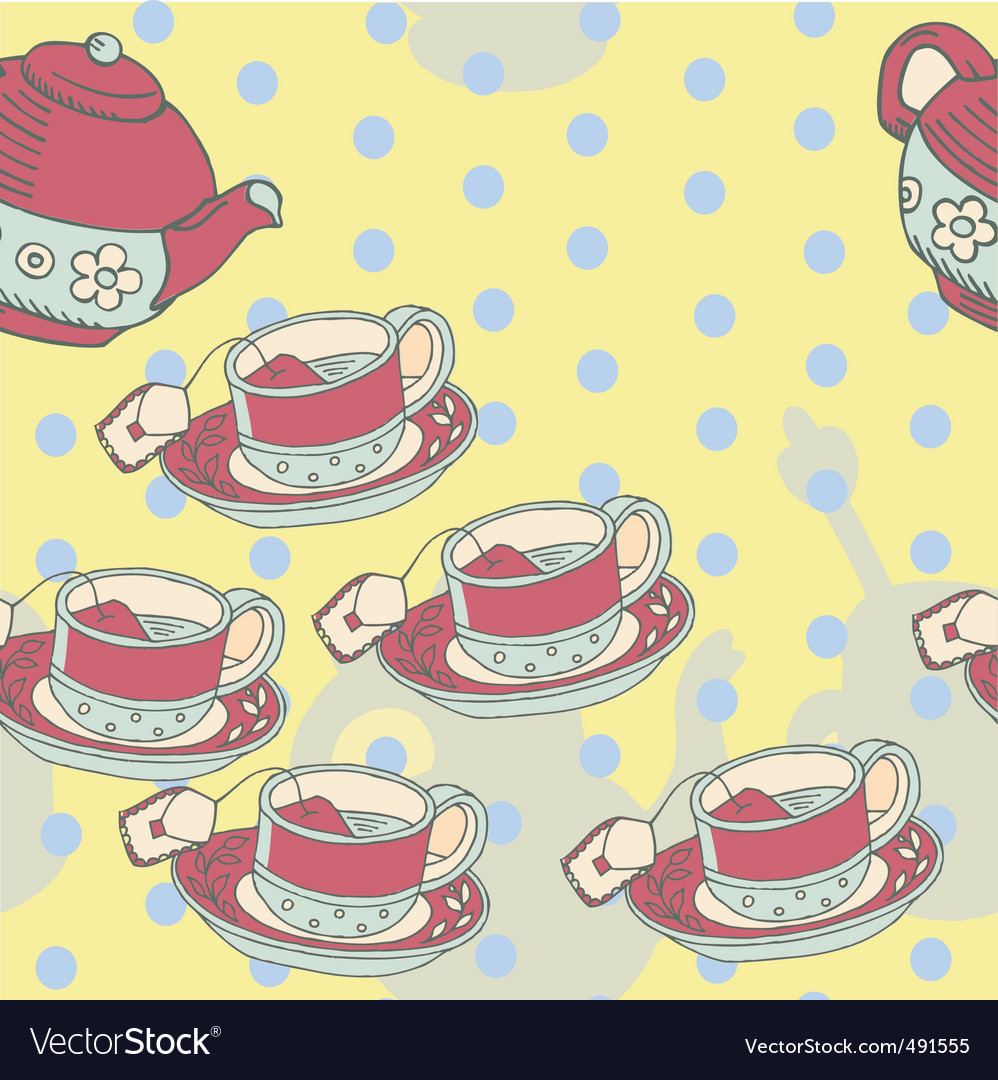 Afternoon tea pattern vector image