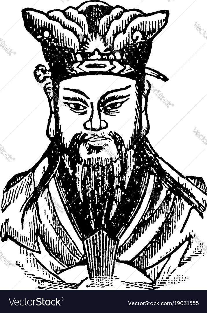 Confucius vintage vector image