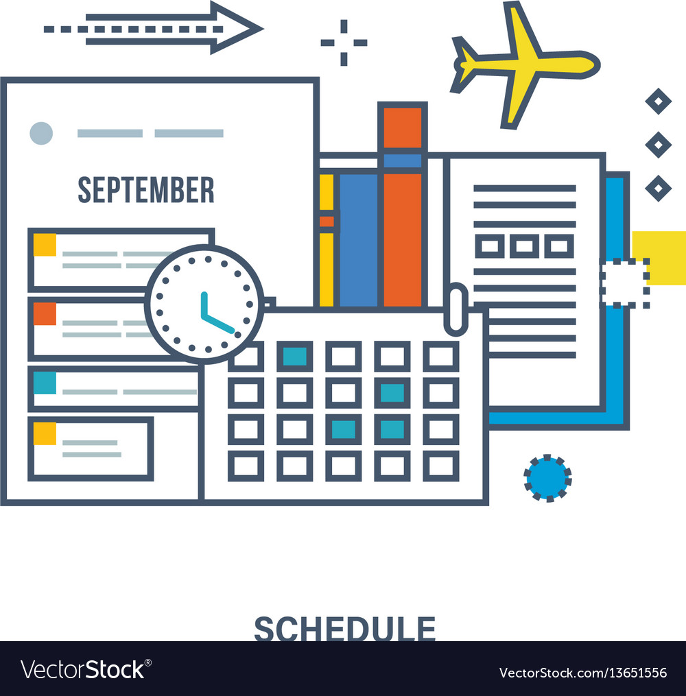Concept of education strategic planning vector image