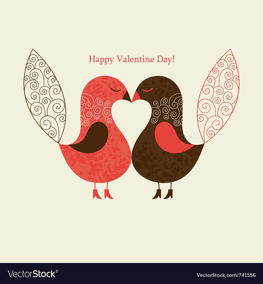 Cute birds vector image
