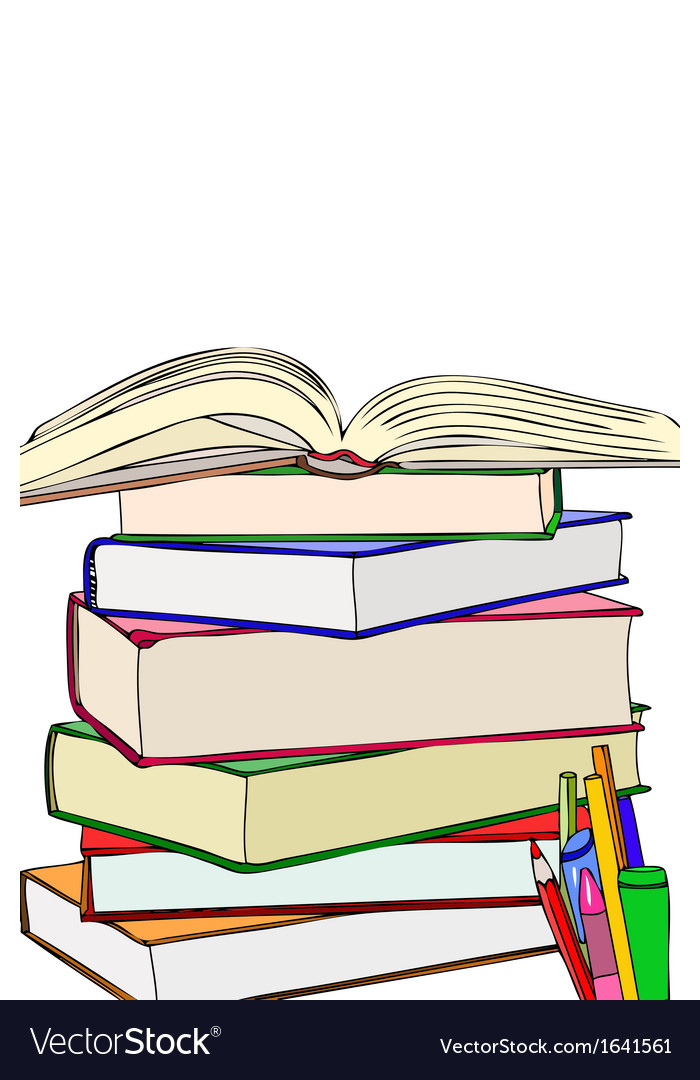 Books and colors vector image