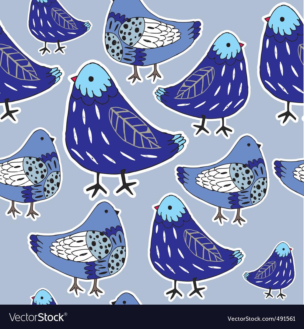Pigeon pattern vector image