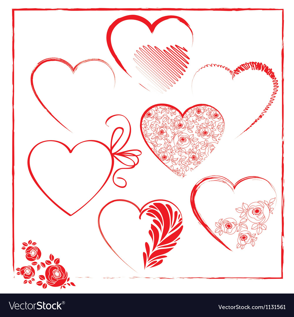 Valentines day templates elements vector image