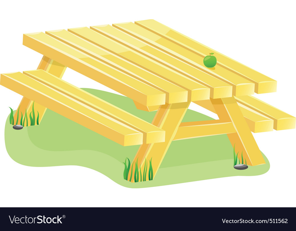 Outdoor table vector image