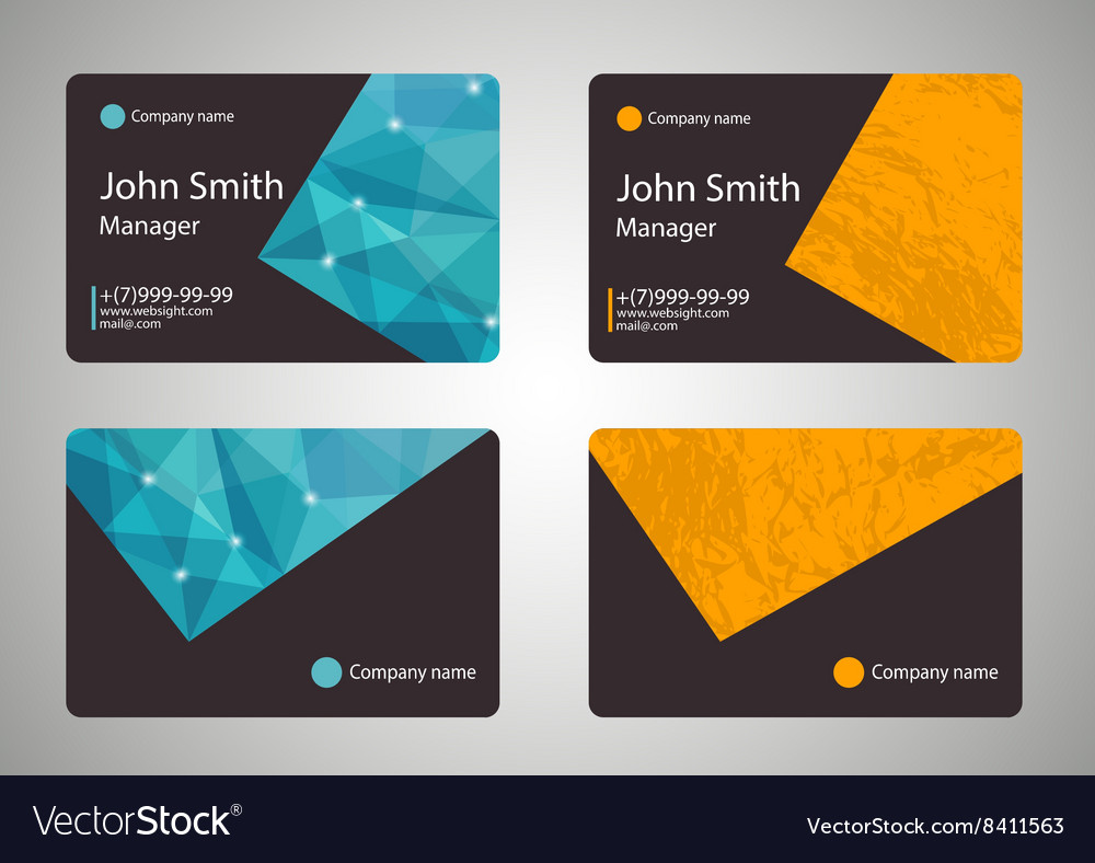 Modern Business-Card vector image