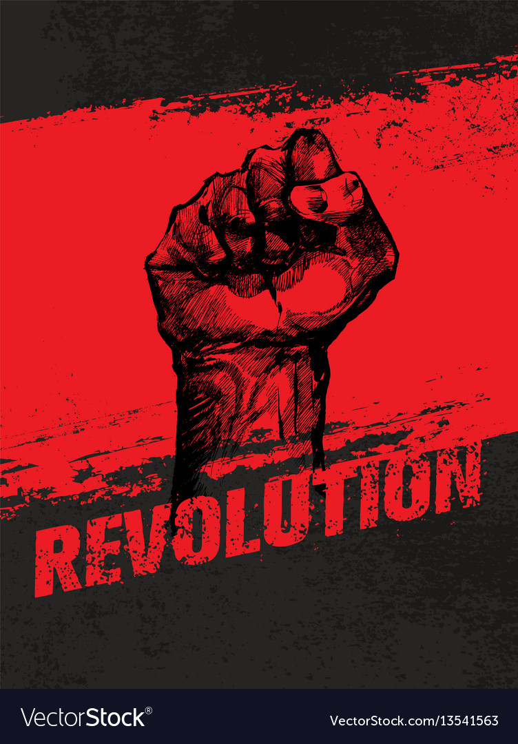 Revolution social protest creative grunge vector image