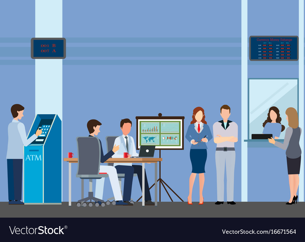 Public access to financial services to banks vector image