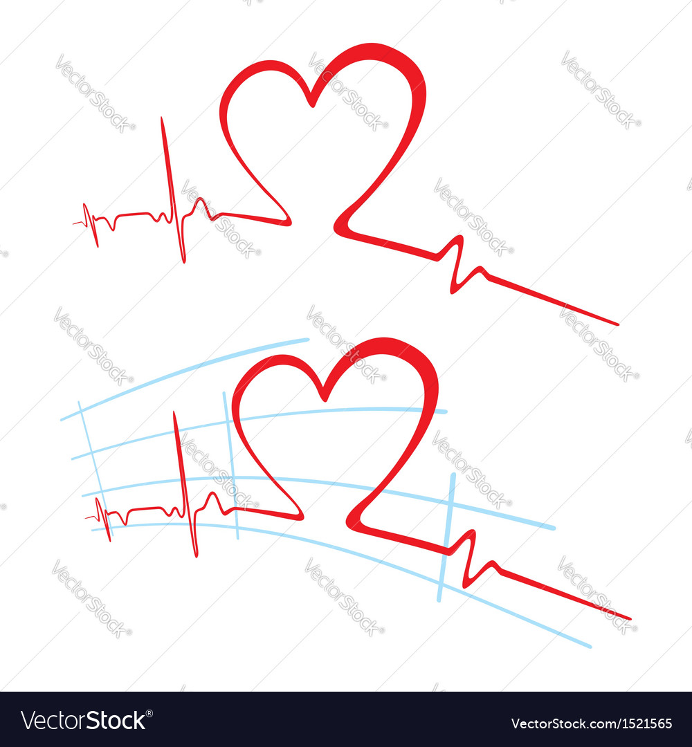 EKG of love vector image