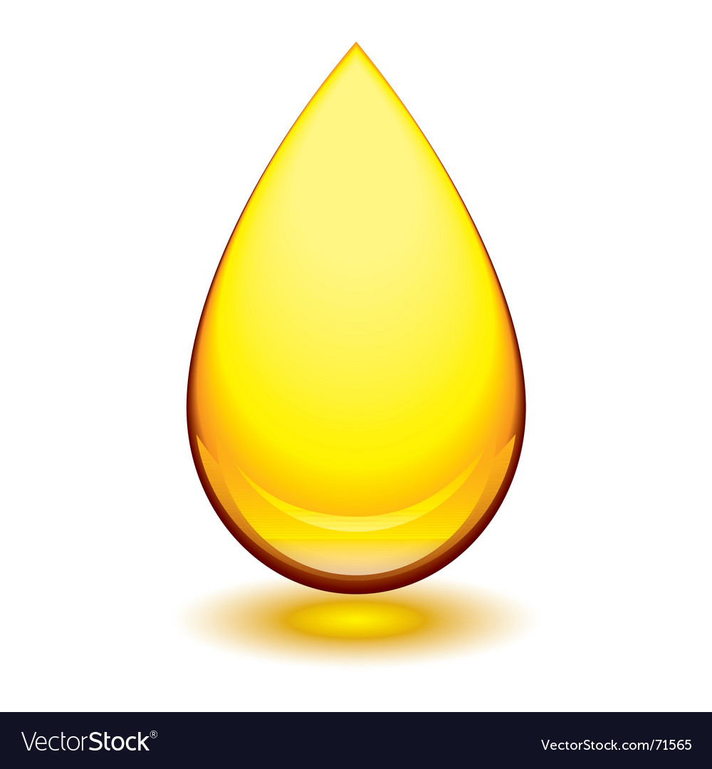 Amber droplet vector image