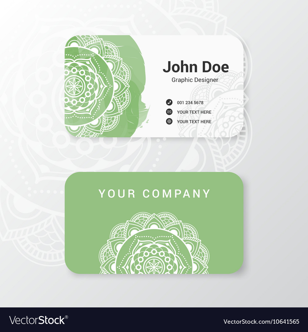 Business name card template design royalty free vector image business name card template design vector image flashek Choice Image