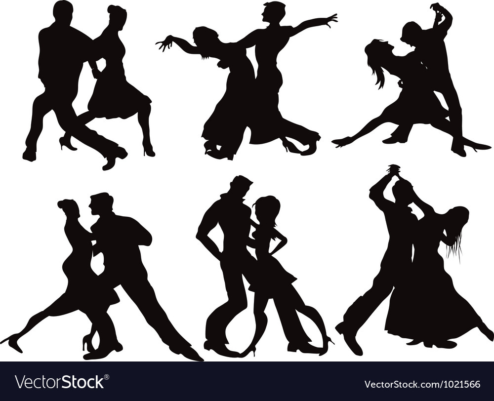 Ballroom Dancing Silhouette Vector Silhouettes of the bal...